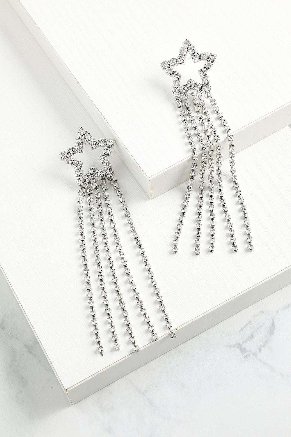 Star Beaded Drop Earrings