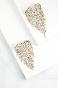 Gold Crystal Drop Earrings