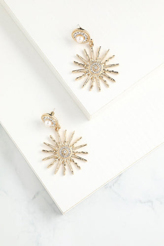 Sunflower Gold Drop Earrings