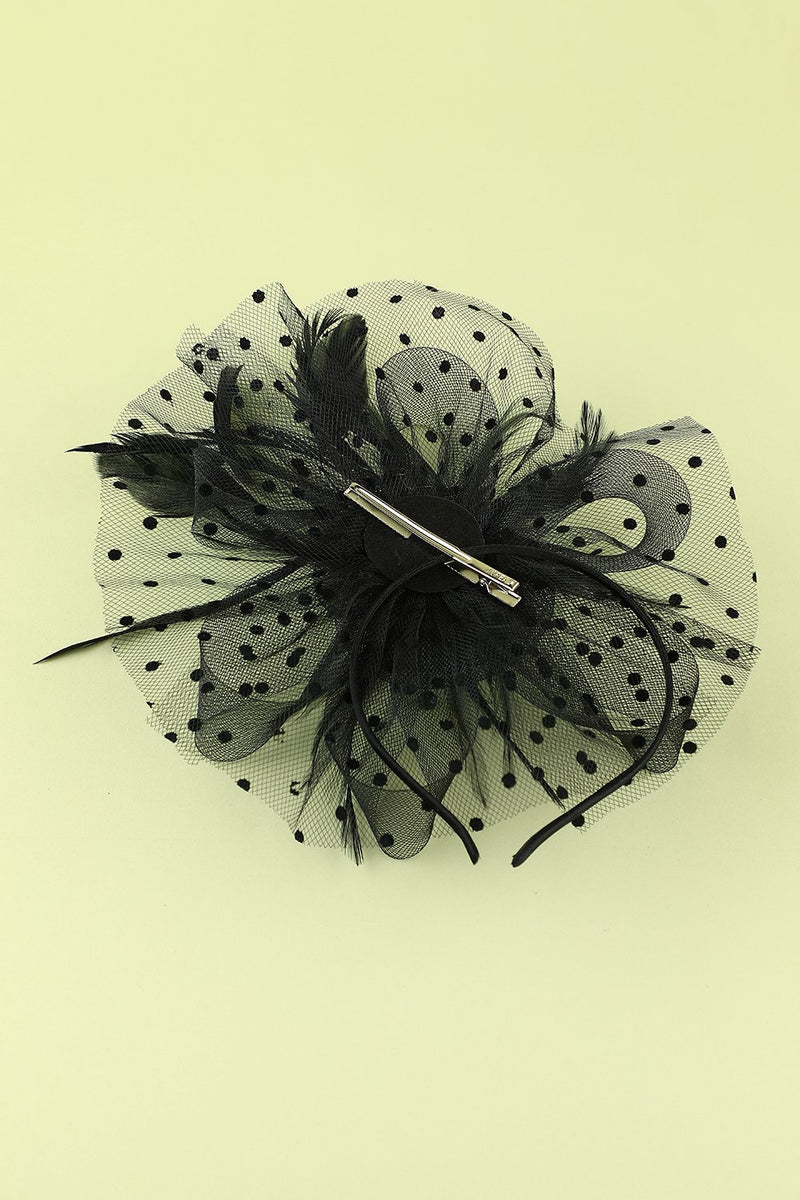 Load image into Gallery viewer, 1920s Feather Tulle Headband