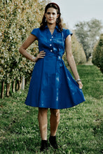 Load image into Gallery viewer, Button Up Royal Blue Dress