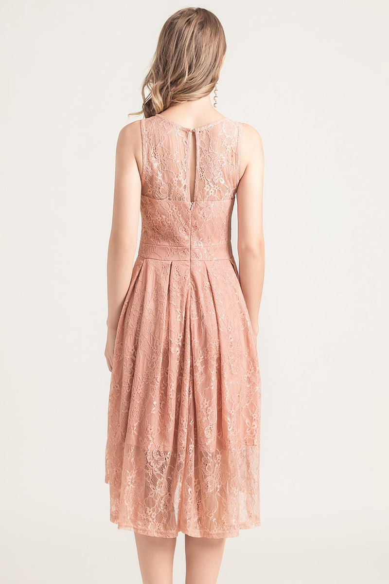 Load image into Gallery viewer, Asymmetrical Lace Dress