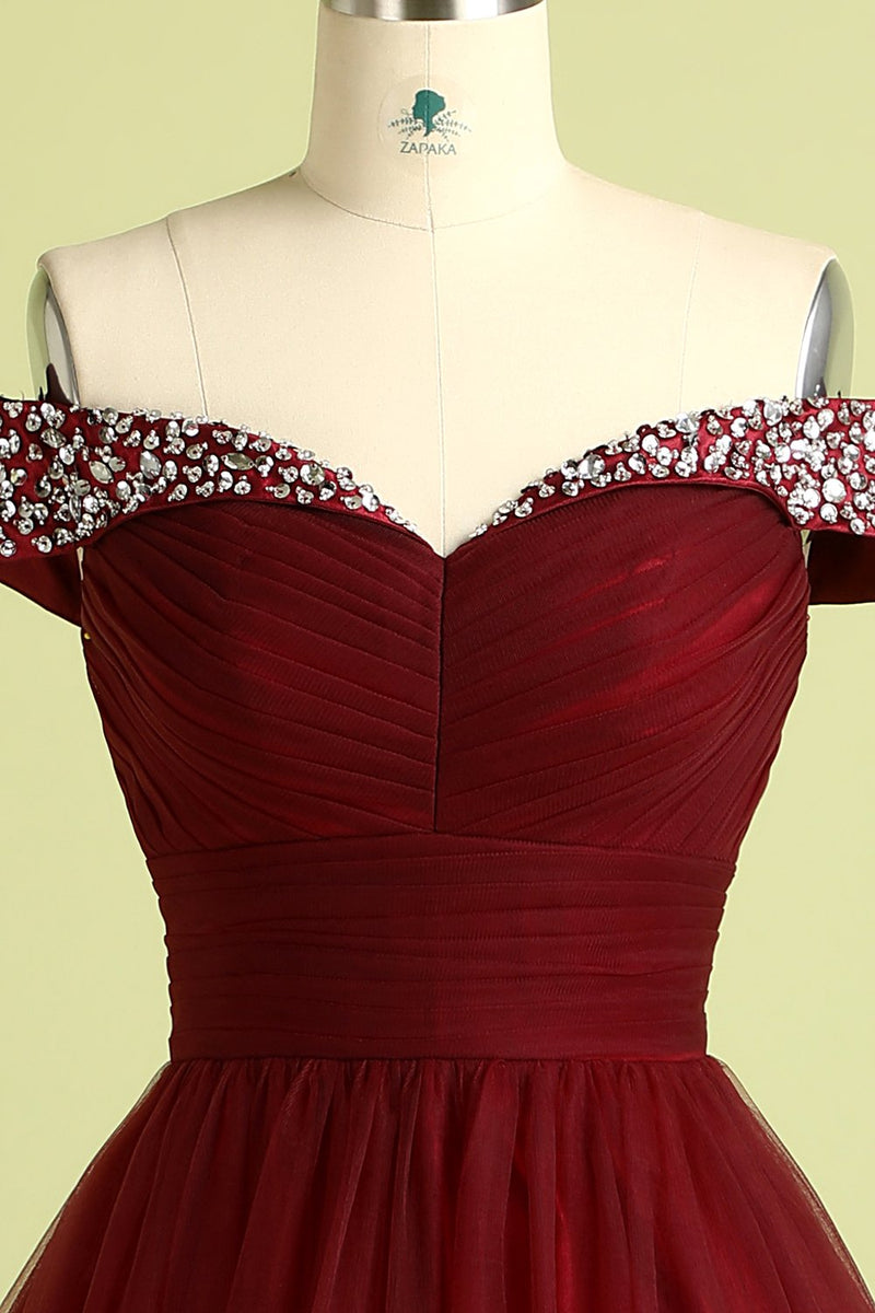 Load image into Gallery viewer, Burgundy Ball Gown