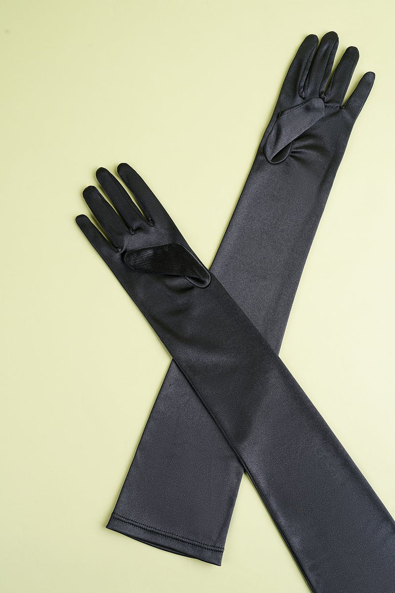 Load image into Gallery viewer, Black 1920s Party Lengthen Gloves