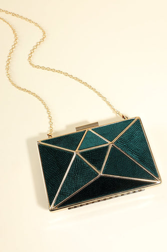 Green Geometric Figure Handbag