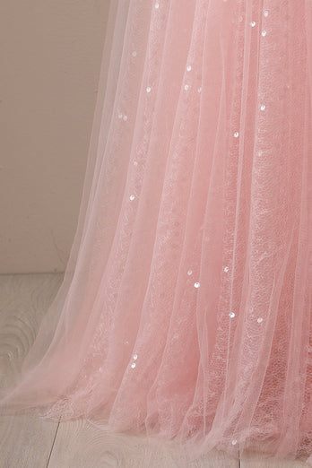 Pink Long Prom Party Dress