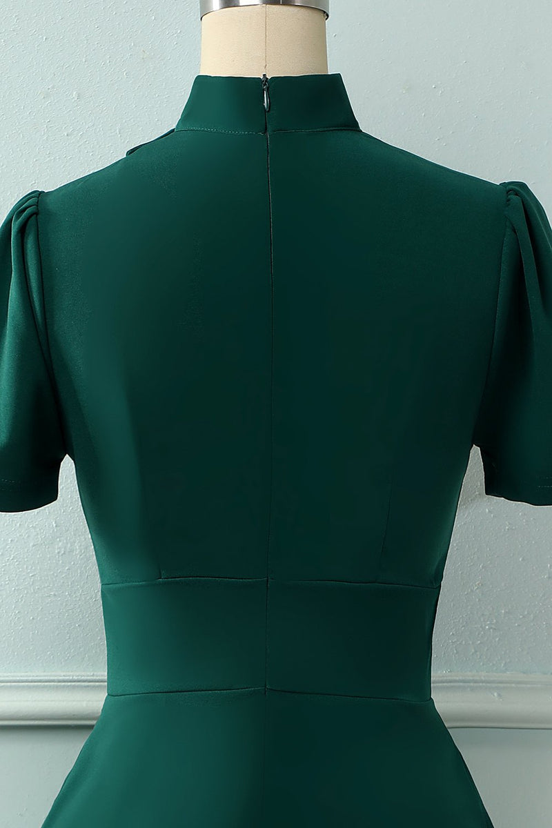 Load image into Gallery viewer, Dark Green 1950s Christmas Dress