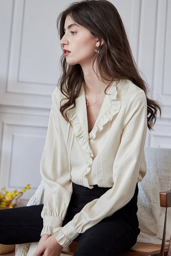 French Style Flounce Top Shirt