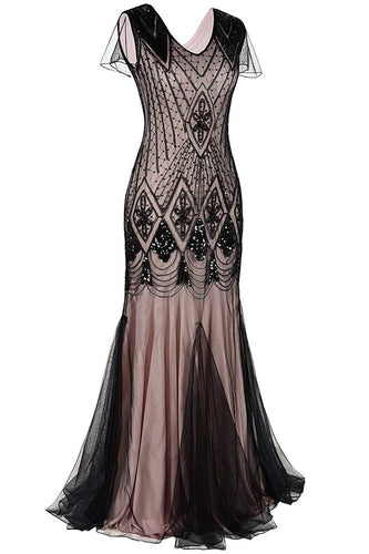 1920s Sequins Flapper Long Dress