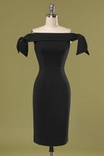 Load image into Gallery viewer, Black Off the Shoulder Bodycon Dress