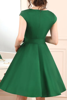 1950s Army Green Dress