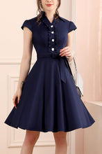 Load image into Gallery viewer, 1950s Navy Blue Swing