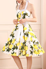 Load image into Gallery viewer, Lemon Halter Dress