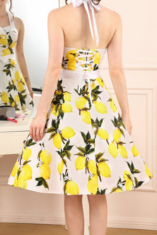 Lemon Halter Dress