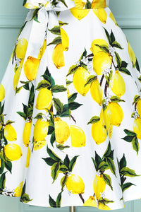 Yellow Lemon Print
