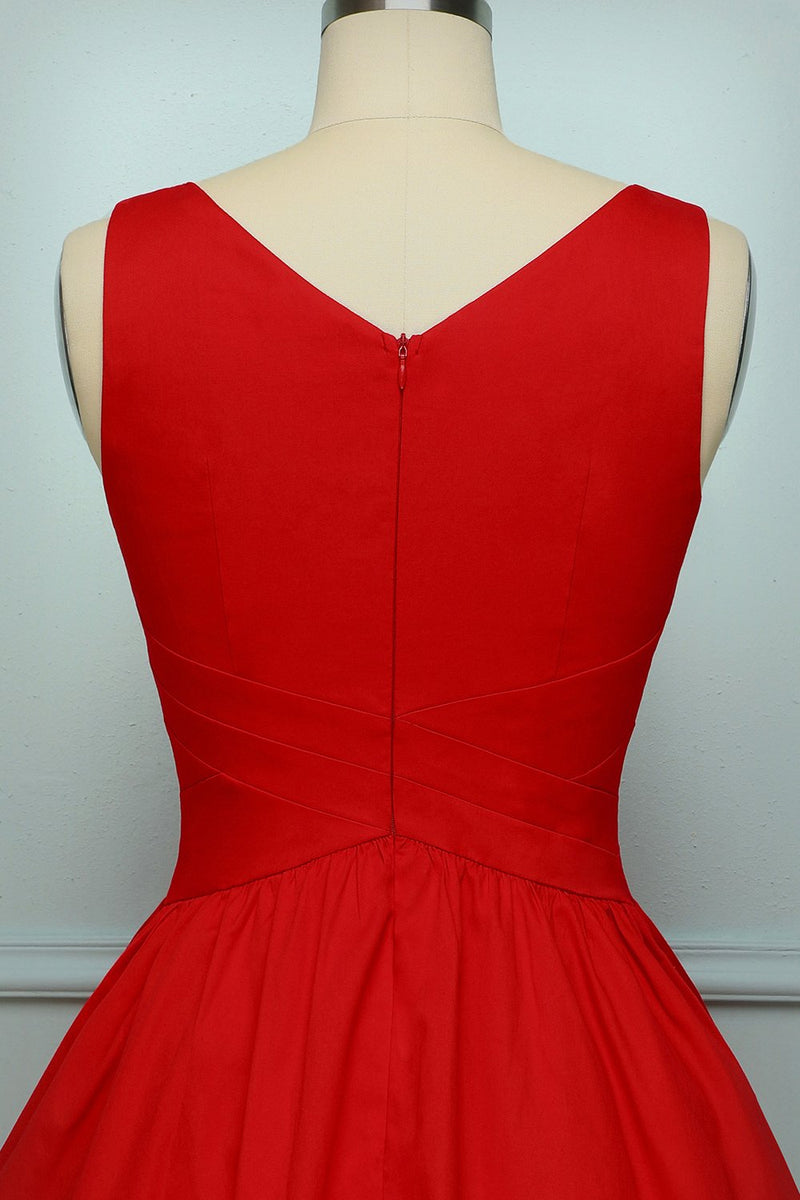 Load image into Gallery viewer, Red Sleeveless Dress