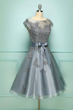Load image into Gallery viewer, Grey Vintage Prom