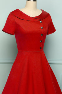 Red Button Dress