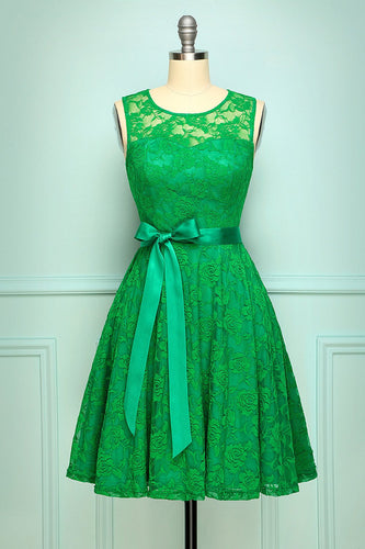 Green Lace Dress