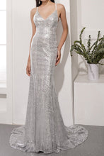 Load image into Gallery viewer, Sequins Grey Party Dress