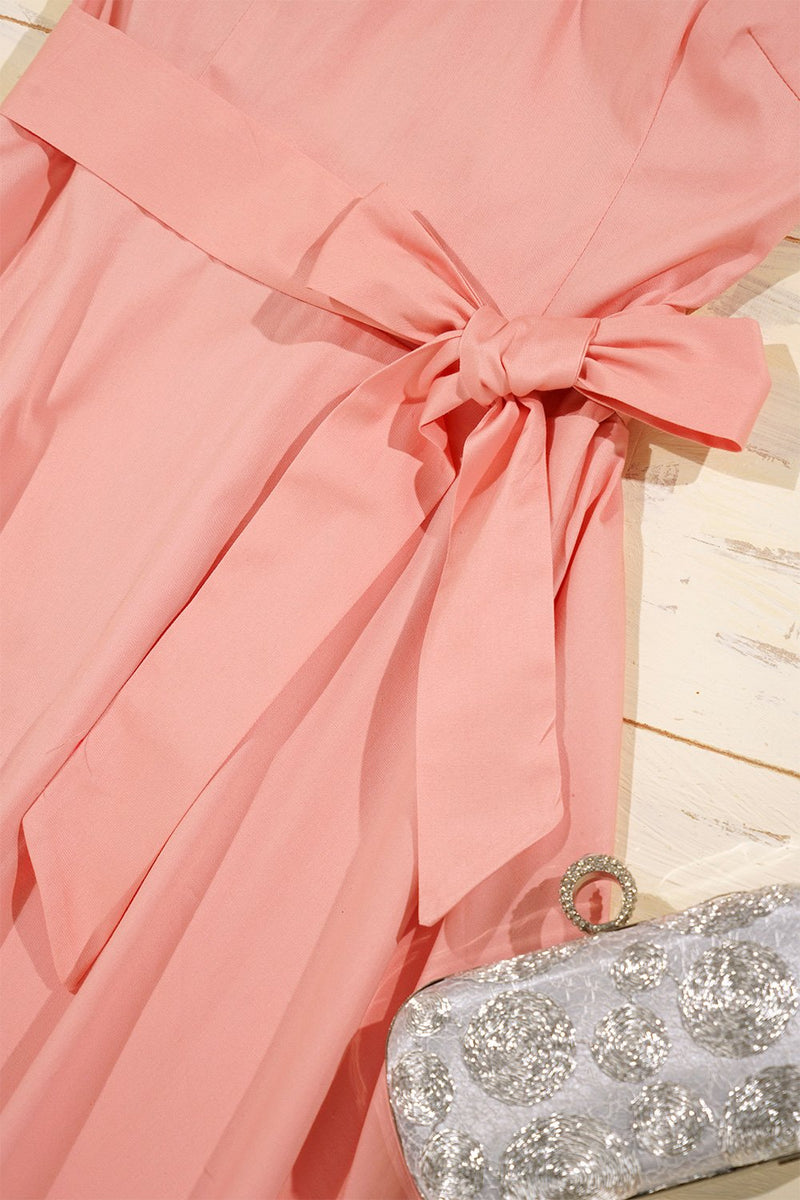 Load image into Gallery viewer, Pink 1950s Swing Dress
