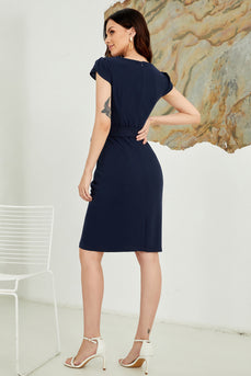 Bodycon Cap Sleeves 1960s Dress