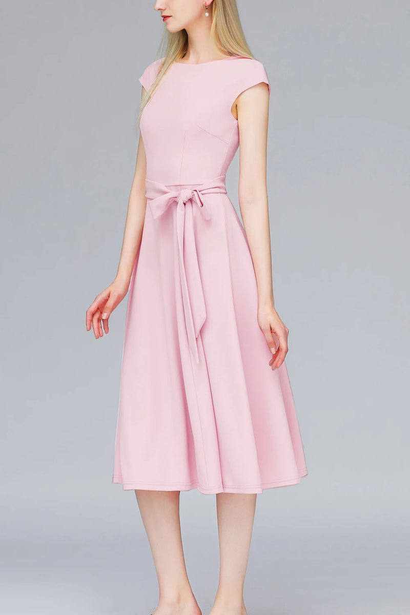 Load image into Gallery viewer, Pink 1950s Retro Dress