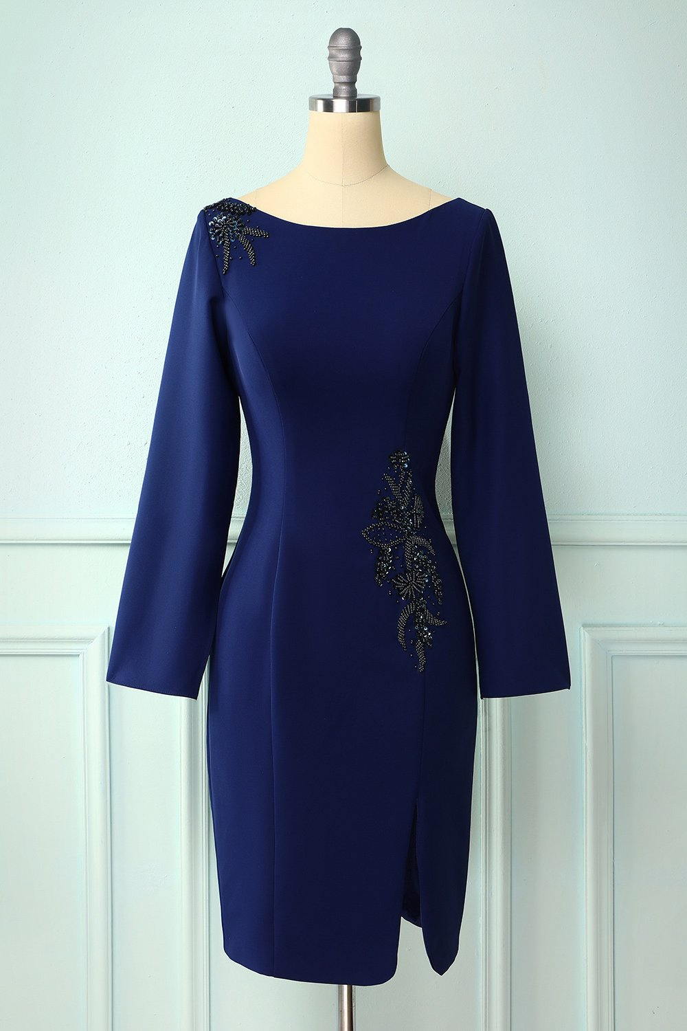 Dark Blue Mother Of The Bride Dress