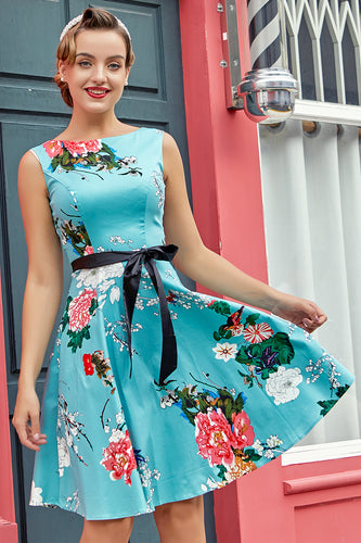 Light Blue 1950s Dress