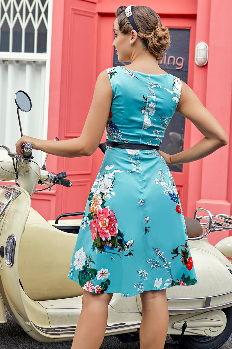 Load image into Gallery viewer, Light Blue 1950s Dress