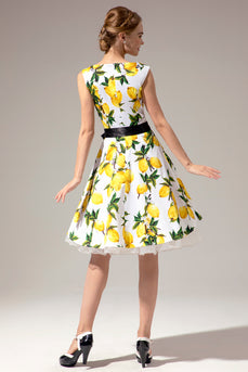 Lemon 1950s Swing Dress