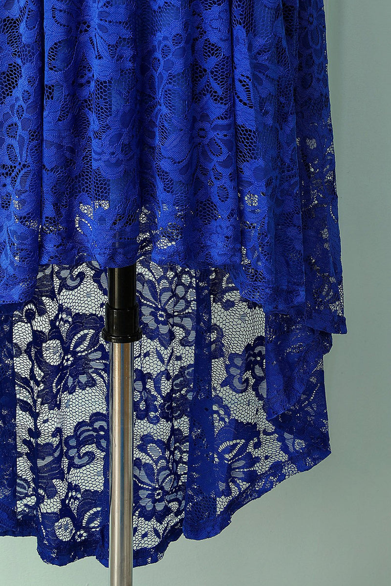 Load image into Gallery viewer, Asymmetric Royal Blue Lace