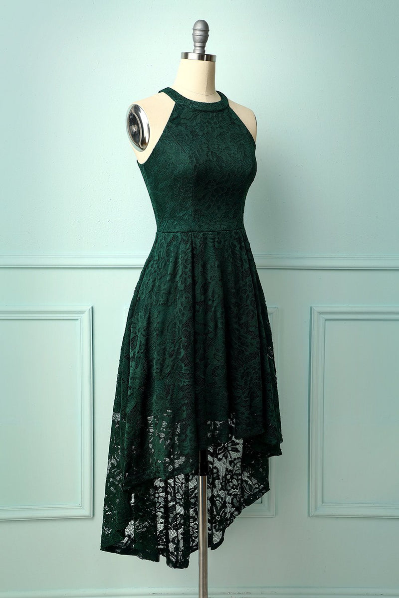 Load image into Gallery viewer, Asymmetrical Green Lace Dress