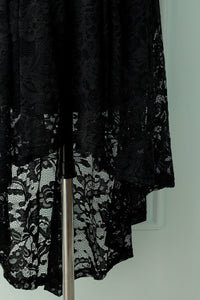Asymmetrical Black Lace