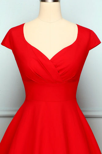 Red V Neck Swing