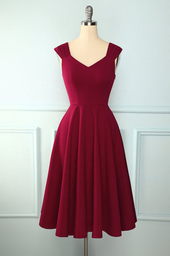 Burgundy Simple Dress