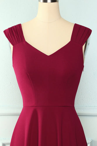Burgundy Simple Vintage Dress