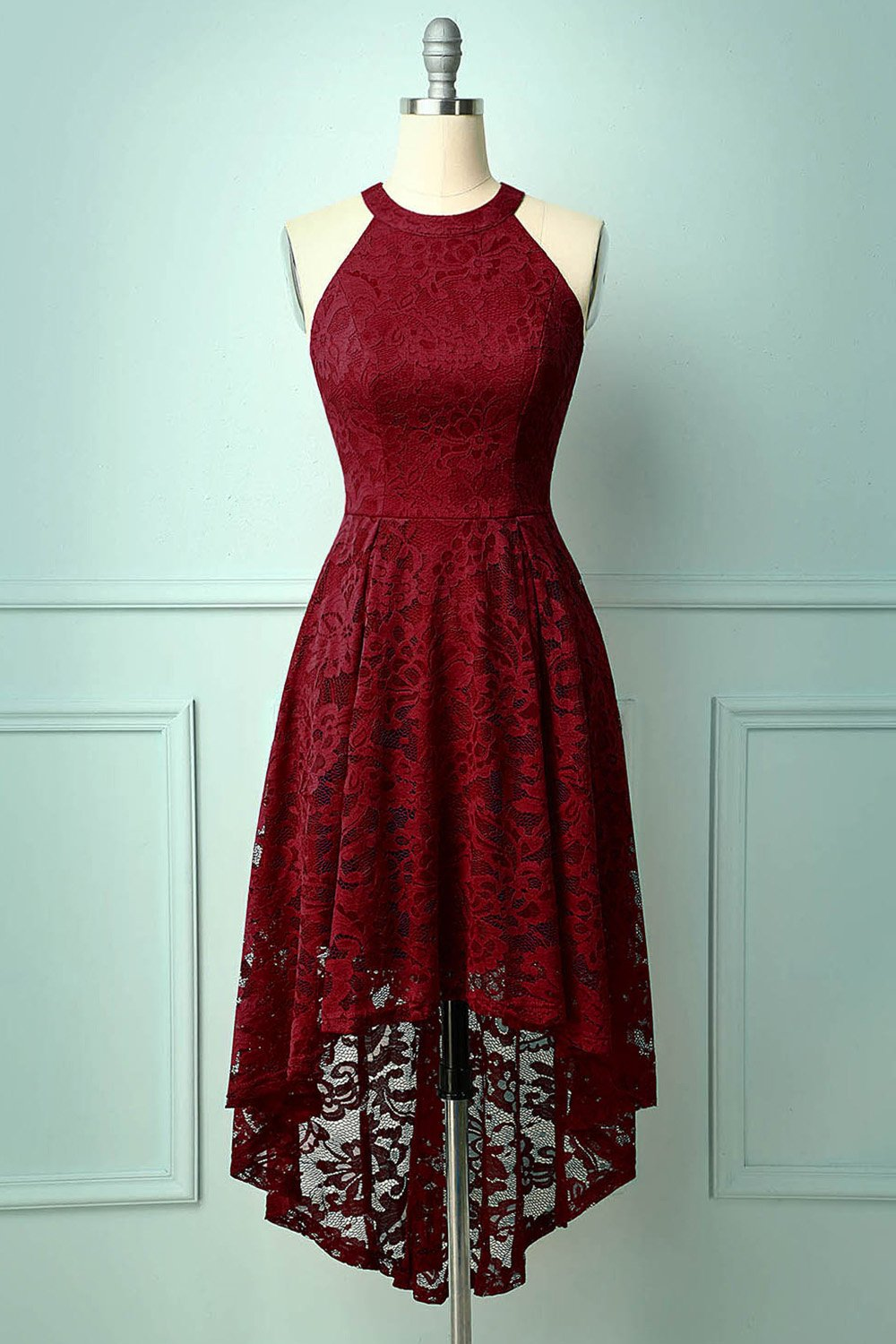Lace Dark Red Dress