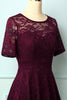 Load image into Gallery viewer, Burgundy Bridesmaid Lace Dress