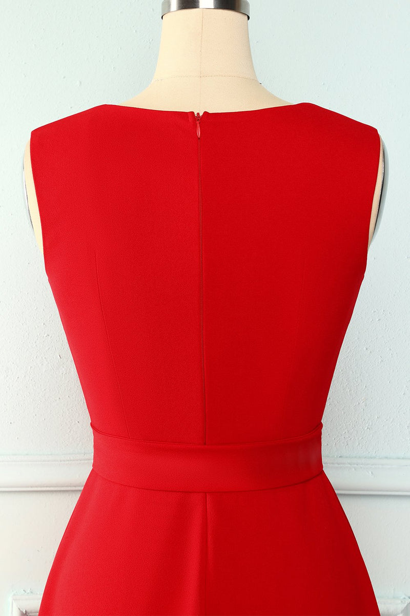 Load image into Gallery viewer, Red Sash Homecoming Dress