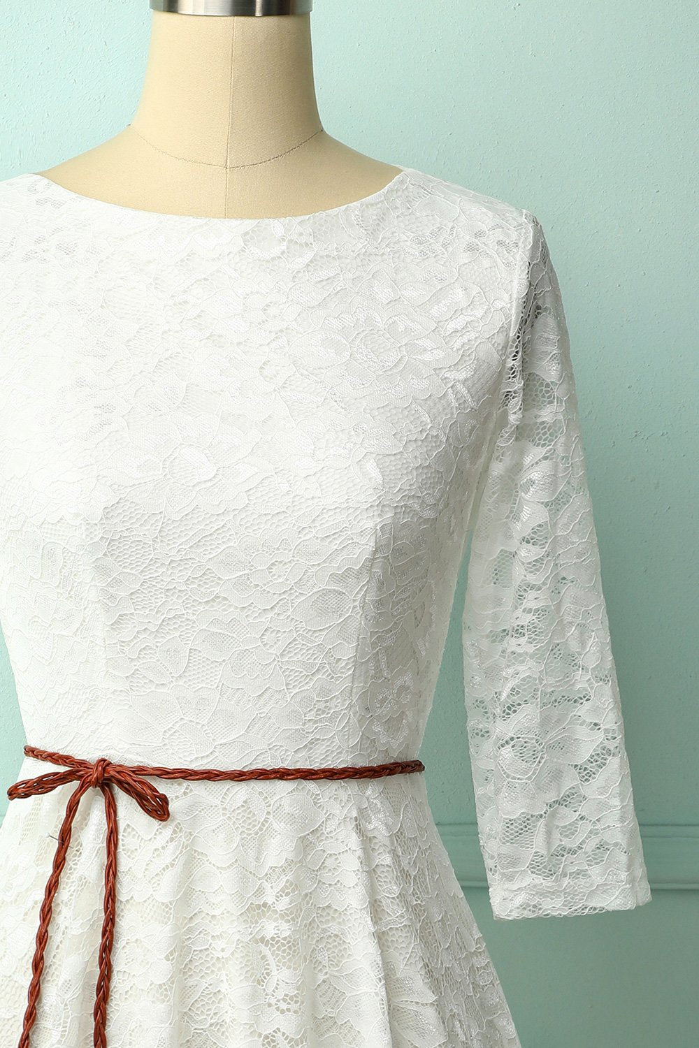 White Lace Midi Dress