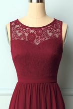 Load image into Gallery viewer, Burgundy Lace Long Dress