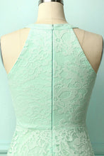 Load image into Gallery viewer, Asymmetric Mint Lace Dress