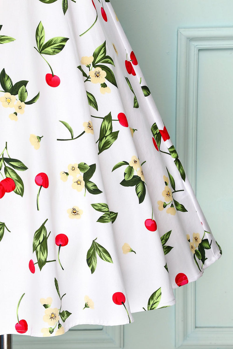 Load image into Gallery viewer, White Cherry Vintage Dress