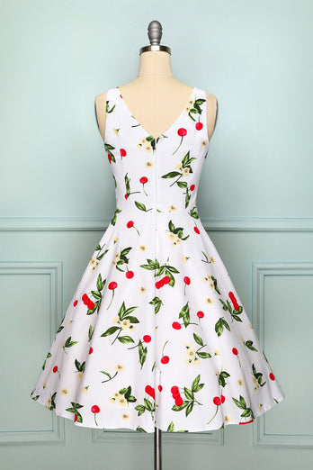 White Cherry Vintage Dress