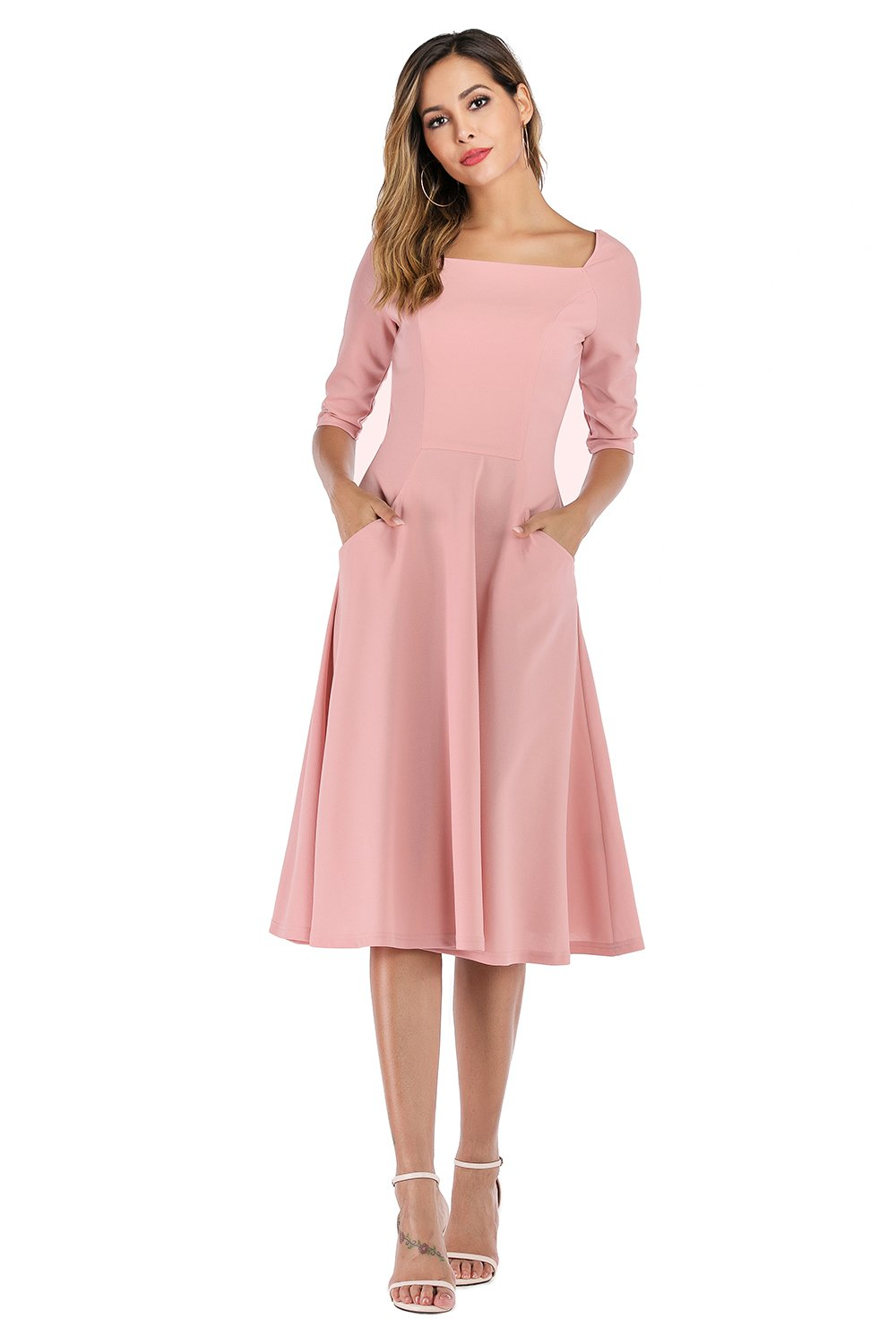 Pink Dress with Pockets