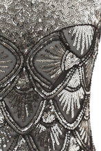 Load image into Gallery viewer, Long 1920s Sequin Dresses Silver