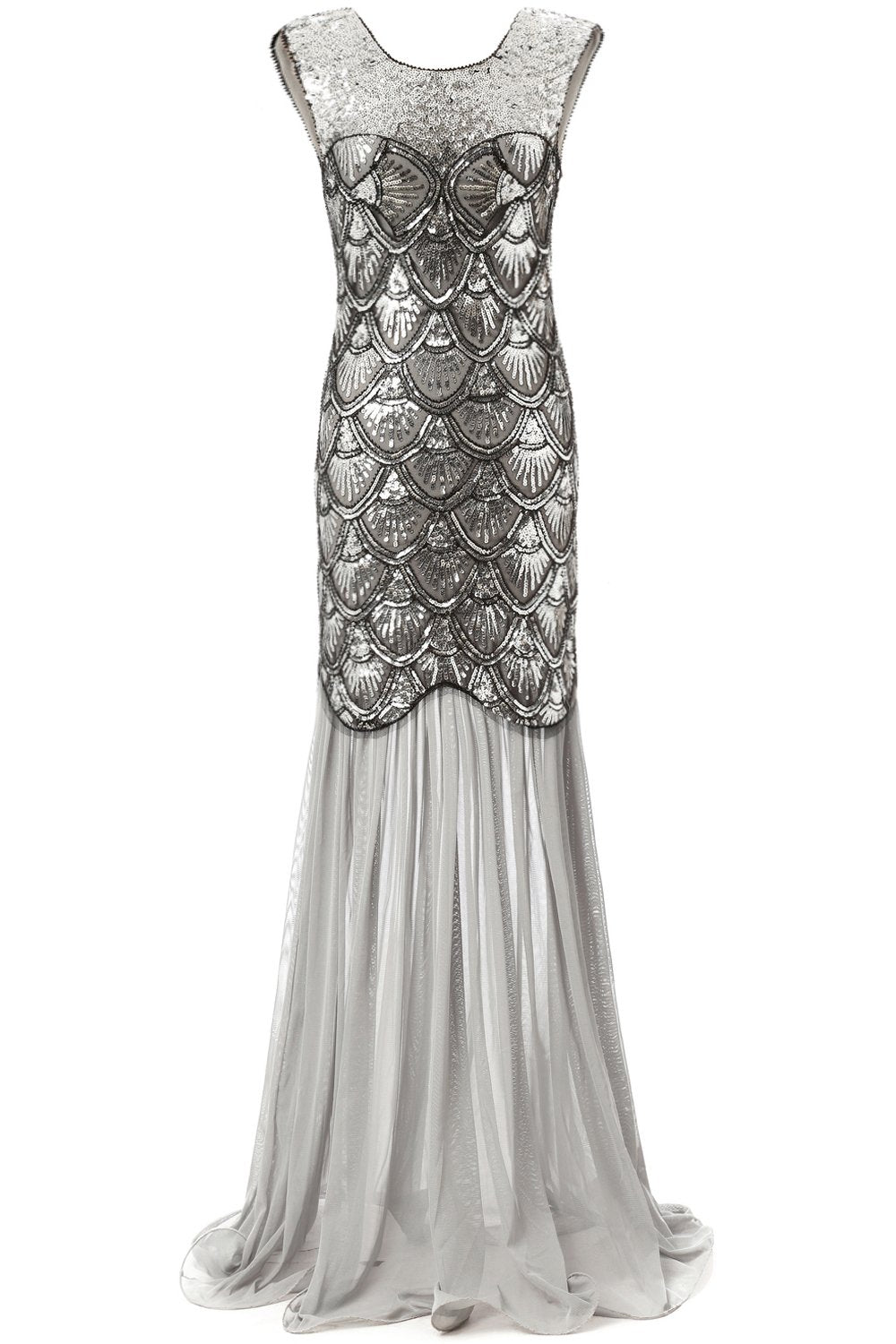 Long 1920s Sequin Dresses