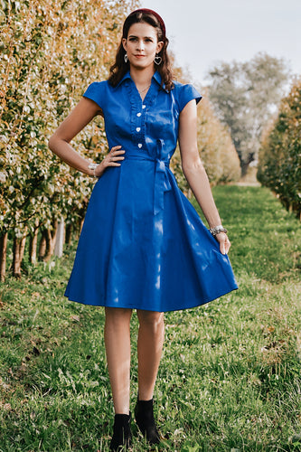 Royal Blue Swing Dress