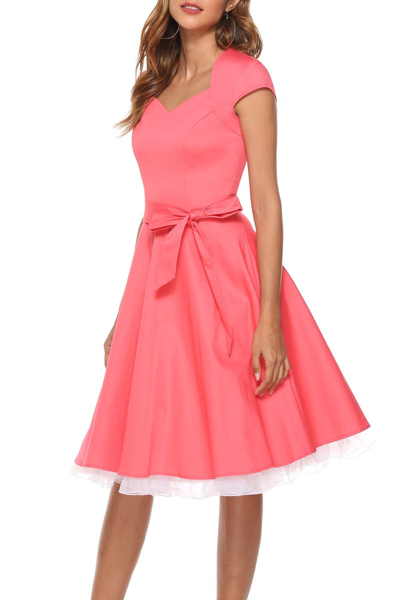 Load image into Gallery viewer, Coral Scoop Swing Dress